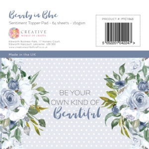 The Paper Tree Beauty in Blue 5″ x 5″ Sentiment Pad