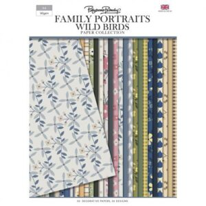 Pollyanna Pickering Family Portraits – Wild Birds Backing Paper Collection