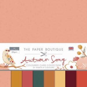 The Paper Boutique Autumn Song Coloured Card Collection