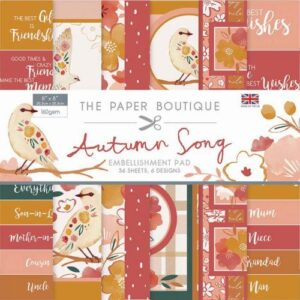 The Paper Boutique Autumn Song  8″ x 8″ Embellishment Pad