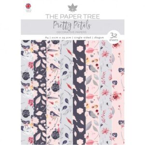 The Paper Tree Pretty Petals A4 Decorative Papers