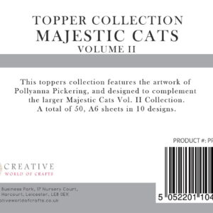 Pollyanna Pickering's Majestic Cats Vol.II A6 Toppers