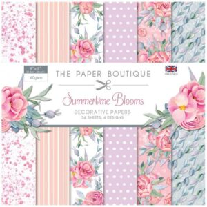 The Paper Boutique Summertime Blooms – 8″ x 8″ Paper Pad