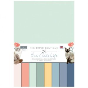 The Paper Boutique It's a Cat's Life – Coloured Card Collection