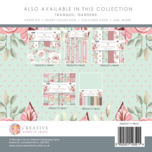The Paper Boutique Tranquil Gardens 8″ x 8″ Embellishment Pad