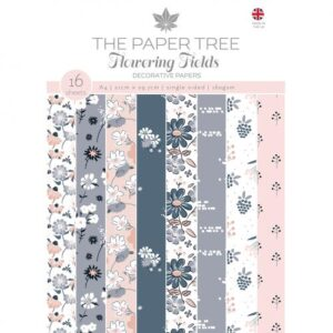 The Paper Tree Flowering Fields A4 Decorative Papers