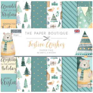 The Paper Boutique Festive Wishes – 8″ x 8″ Paper Pad
