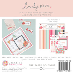 The Paper Boutique Lovely Days 8″ x 8″ Paper Pad