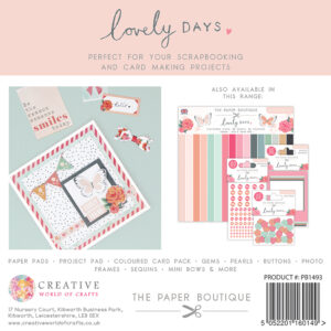 The Paper Boutique Lovely Days 6″ x 6″ Paper Pad