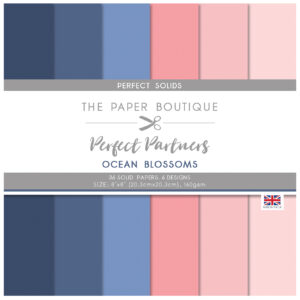 The Paper Boutique Perfect Partners Ocean Blossoms – 8″ x 8″ Paper Pad Perfect Solids