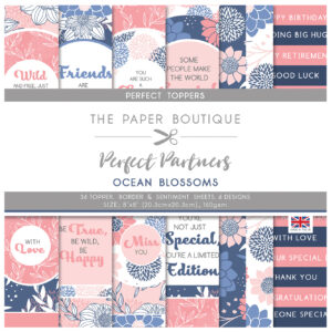 The Paper Boutique Perfect Partners Ocean Blossoms – 8″ x 8″ Paper Pad Perfect Toppers