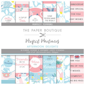 The Paper Boutique Perfect Partners Afternoon Delights – 8″ x 8″ Paper Pad Perfect Toppers