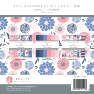 The Paper Boutique Perfect Partners Ocean Blossoms – 8″ x 8″ Paper Pad Perfect Florals