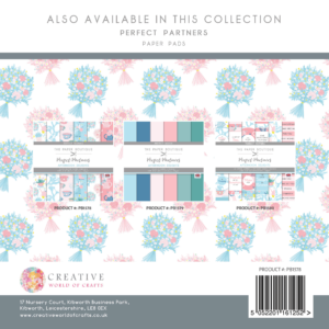 The Paper Boutique Perfect Partners Afternoon Delights – 8″ x 8″ Paper Pad Perfect Florals