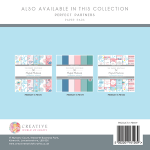The Paper Boutique Perfect Partners Afternoon Delights – 8″ x 8″ Paper Pad Perfect Solids
