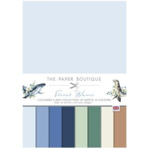 The Paper Boutique Floral Waves Coloured Card Collection
