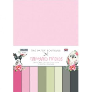 The Paper Boutique Farmyard Friends Coloured Card Collection