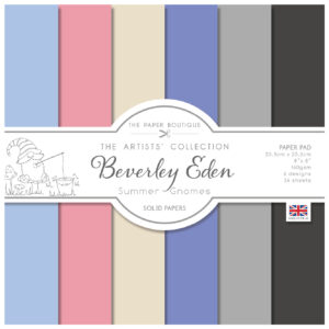 The Paper Boutique Artists' Collection – Beverley Eden – Summer Gnomes Coloured Paper Pad