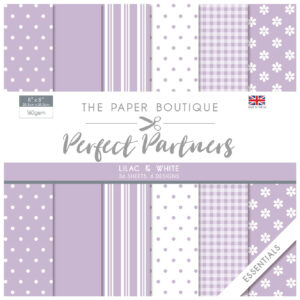 The Paper Boutique Perfect Partners 8″ x 8″ Pad – Lilac & White