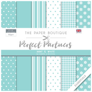 The Paper Boutique Perfect Partners 8″ x 8″ Pad – Mint & White