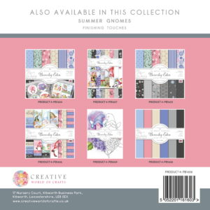 The Paper Boutique Artists' Collection – Beverley Eden – Summer Gnomes Finishing Touches Pad
