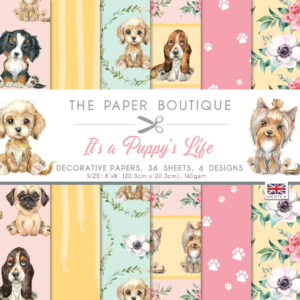 The Paper Boutique It's A Puppy's Life 8″ x 8″ Paper Pad