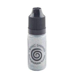 Cosmic Shimmer – Biodegradable Twinkles – Bright Silver 10ml