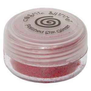 Cosmic Shimmer – Polished Silk Glitter – Fire Red 10ml