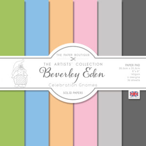 The Paper Boutique Artists' Collection – Beverley Eden – Celebration Gnomes Coloured Paper Pad