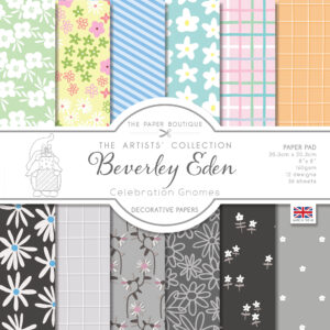 The Paper Boutique Artists' Collection – Beverley Eden – Celebration Gnomes Decorative Papers – Available 31st July