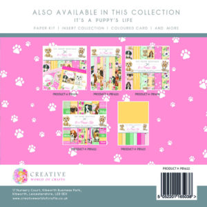 The Paper Boutique It's A Puppy's Life Embellishment Pad