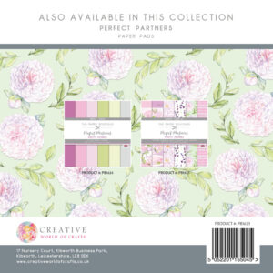 The Paper Boutique Pretty Peonies 8″ x 8″ Paper Kit