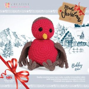 Knitty Critters – Christmas Critters – Bobby the Robin