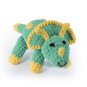 Knitty Critters – Classic Critters – Toby Triceratops