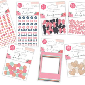 The Paper Boutique Lovely Days Bumper Embellishment Pack