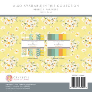 The Paper Boutique – Dancing Daisies – Perfect Solids 8″ x 8″ Pad