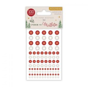 The Paper Boutique Under The Mistletoe Adhesive Pearls