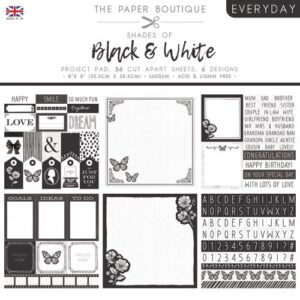 The Paper Boutique – Shades of Black & White – Project Pad