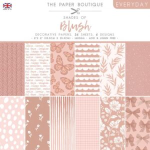 The Paper Boutique – Shades of Blush – 8″ x 8″ Paper Pad