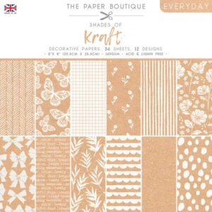 The Paper Boutique – Shades of Kraft – 8″ x 8″ Paper Pad