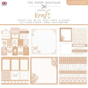 The Paper Boutique – Shades of Kraft – Project Pad