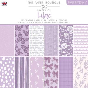 The Paper Boutique – Shades of Lilac – 8″ x 8″ Paper Pad