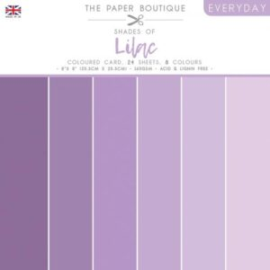 The Paper Boutique – Shades of Lilac – Coloured Card Pack