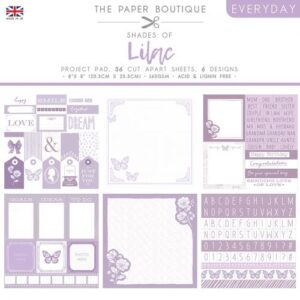 The Paper Boutique – Shades of Lilac – Project Pad