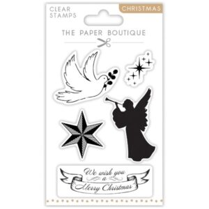 The Paper Boutique A6 Christmas Stamps – Angels – Set of 6