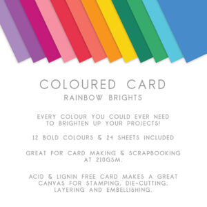 The Paper Boutique – Everyday Coloured Card – A4 Card Packs Rainbow Brights