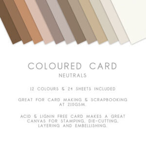 The Paper Boutique – Everyday Coloured Card – A4 Card Packs Neutrals