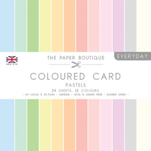 The Paper Boutique – Everyday Coloured Card – A4 Card Packs Pastels