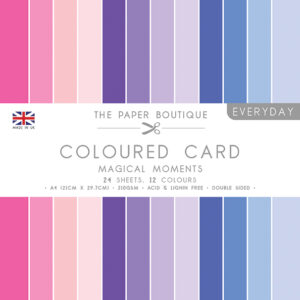 The Paper Boutique – Everyday Coloured Card – A4 Card Packs Magical Moments
