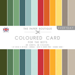 The Paper Boutique – Everyday Coloured Card – A4 Card Packs For The Boys